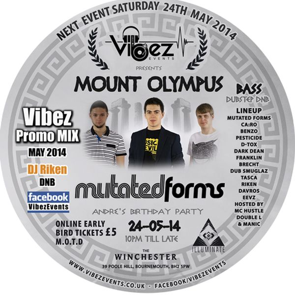 Vibez Promo Mix May 2014 – DJ RIKEN – Drum & Bass Mix