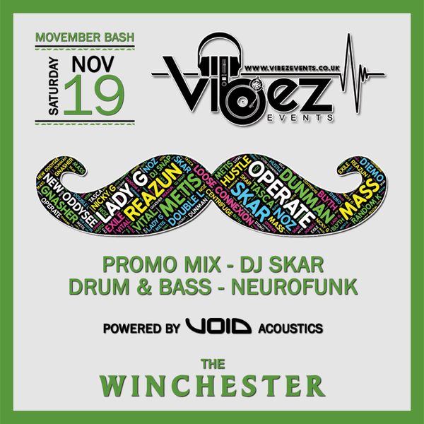 Vibez Promo Mix – November 2016 – DJ SKAR – Drum & Bass