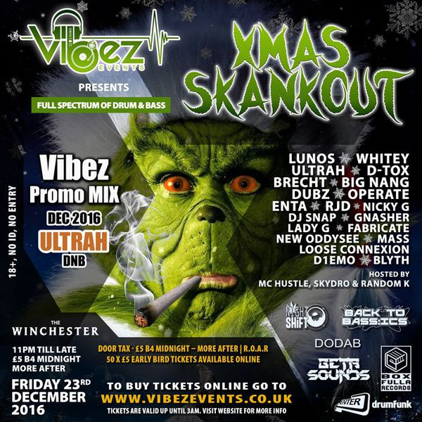 Vibez Promo Mix – December 2016 – ULTRAH – Drum & Bass